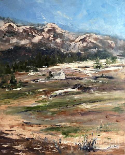 Painting - Little White Church On The Hill by Lori Pittenger