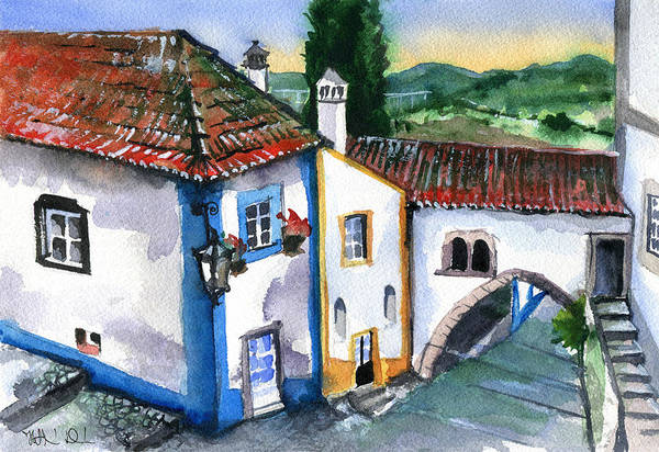 Painting - Little Wonders Of Portugal by Dora Hathazi Mendes