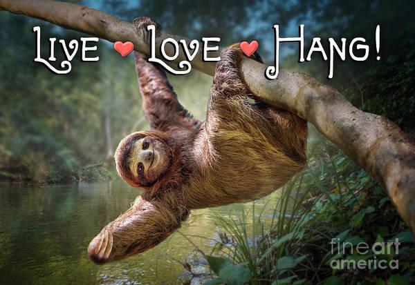 Wall Art - Digital Art - Live Love Hang by Evie Cook