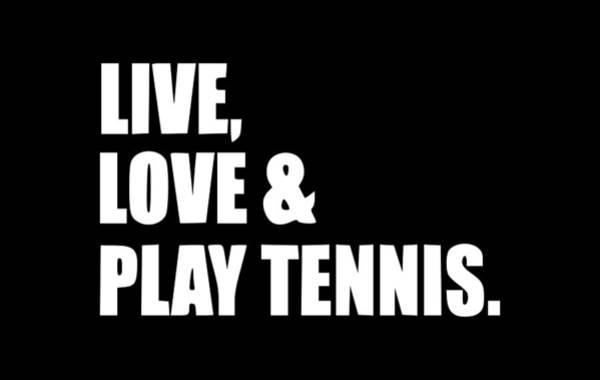 Backhand Digital Art - Live Love Tennis1 by Tee Titan