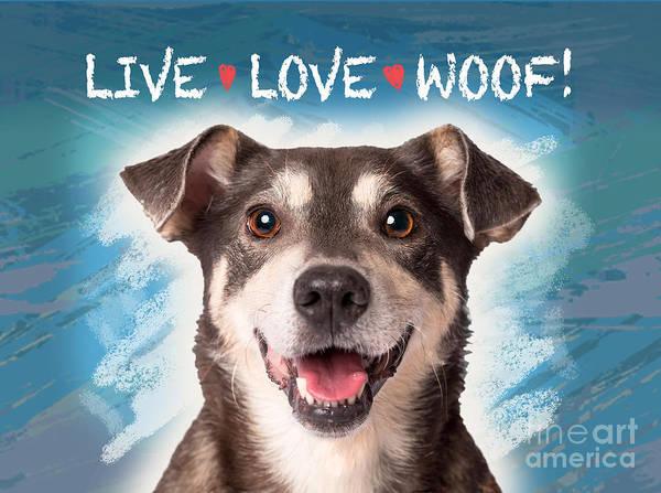 Wall Art - Digital Art - Live Love Woof by Evie Cook