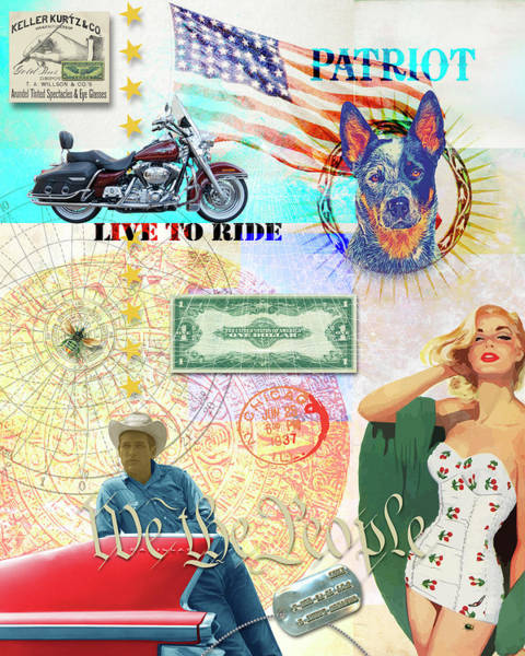 Digital Art - Live To Ride by Gary Grayson