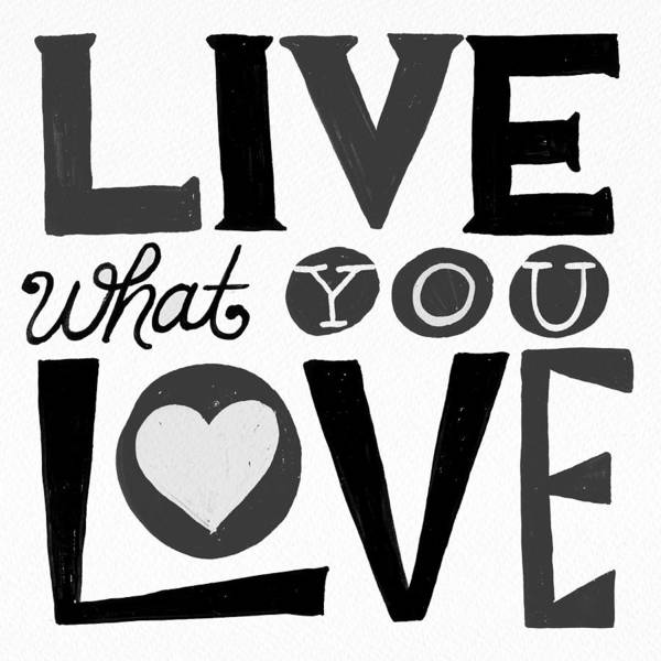 Painting - Live What You Love In Black by Jen Montgomery