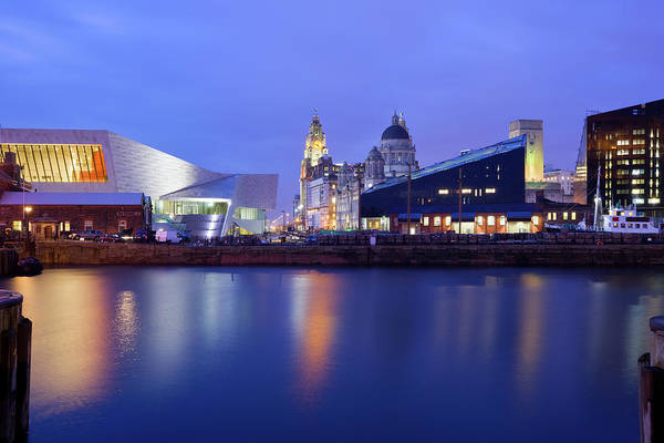 Quayside Photograph - Liverpool England Uk by Benedek