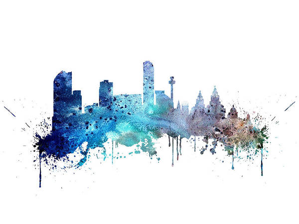 Liverpool Skyline Digital Art - Liverpool by Erzebet S