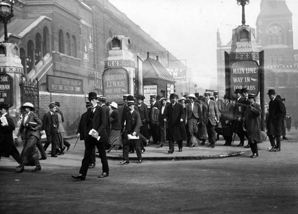 1915 Photograph - Liverpool Street by Hulton Collection