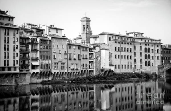 Photograph - Living Along The Arno River In Florence by John Rizzuto