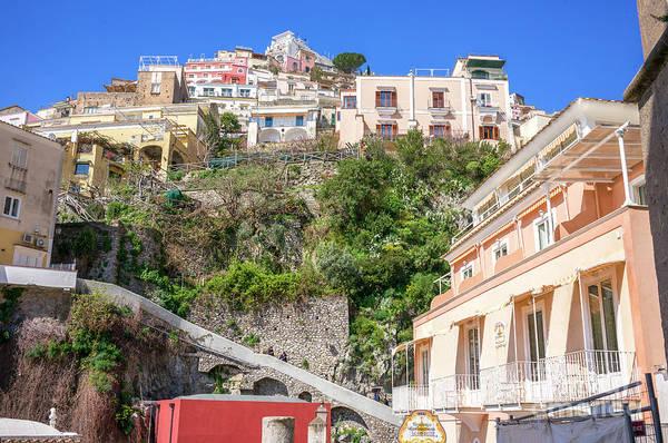 Wall Art - Photograph - Living High In Positano by John Rizzuto