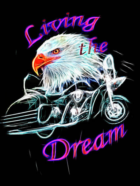 Silver And Gold Digital Art - Living The Dream Shine by Debra and Dave Vanderlaan