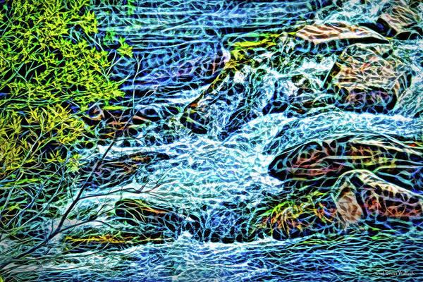 Digital Art - Living Water Stream by Joel Bruce Wallach