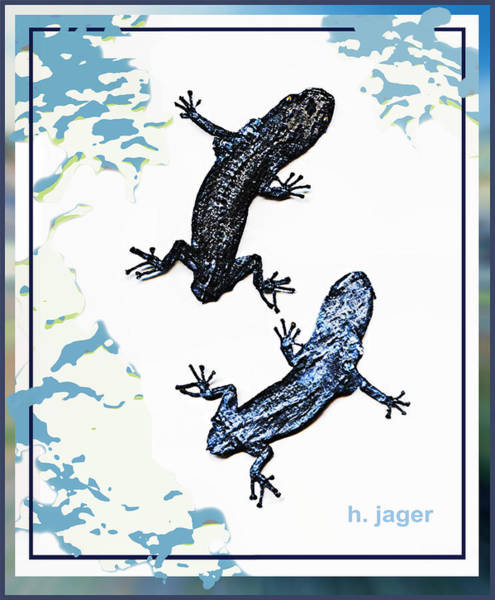 Mixed Media - Lizard by Hartmut Jager