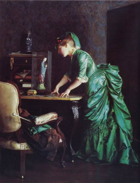 Painting - Lizzy Young In Green by Reynold Jay