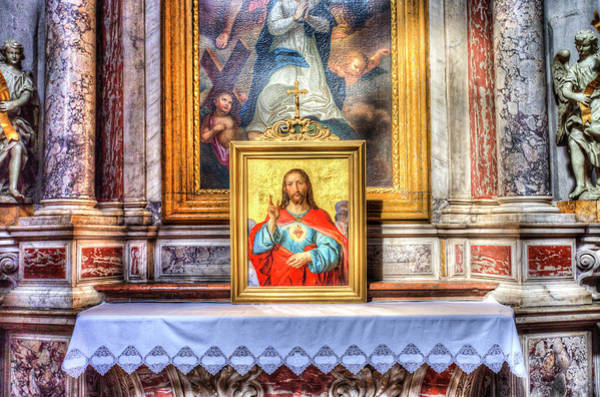 Wall Art - Photograph - Ljubljana Church Jesus by David Pyatt