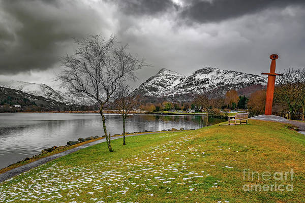 Wall Art - Photograph - Llanberis Lake And Sword by Adrian Evans