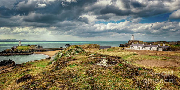 Wall Art - Photograph - Llanddwyn Island Lighthouse And Beacon by Adrian Evans