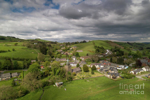 Photograph - Llangurig From The Air by Keith Morris