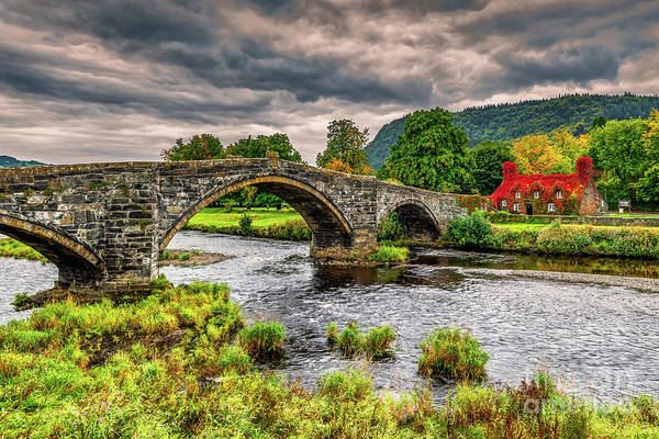 Wall Art - Photograph - Llanrwst Bridge And Tea Room Autumn by Adrian Evans