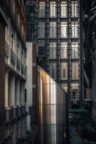 Photograph - Lloyds Building Elevators by Chris Fletcher