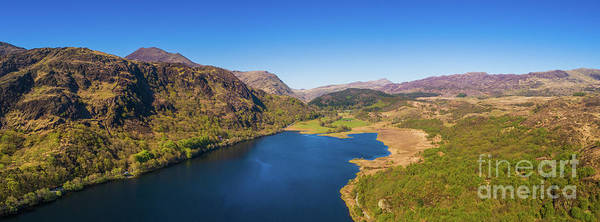Photograph - Llyn Dinas, Snowdonia From The Air by Keith Morris