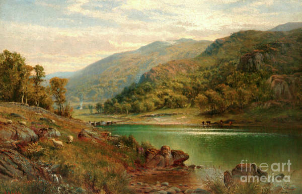 Wall Art - Painting - Llyn Mymbyr, Capel Curig, 1882 by Alfred Augustus Glendening