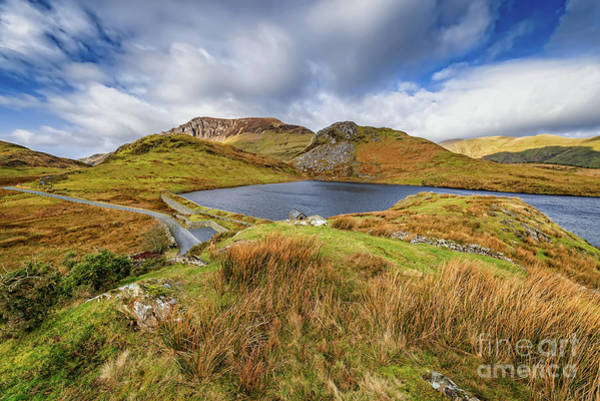 Wall Art - Photograph - Llyn Y Dywarchen And Boathouse Snowdonia by Adrian Evans