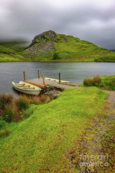 Wall Art - Photograph - Llyn Y Dywarchen Boats Snowdonia by Adrian Evans