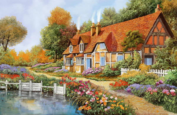 Wall Art - Painting - Lo Steccato Sul Fiume by Guido Borelli