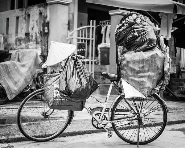 Photograph - Loaded Bike Vietnam by Gary Gillette