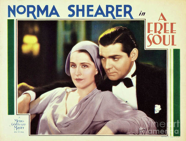 Photograph - Lobby Card For The American Pre-code Drama Film A Free Soul by Doc Braham