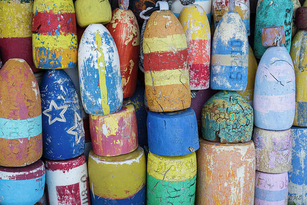Photograph - Lobster Buoys IIi  - Rockport by David Gordon
