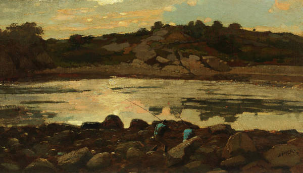 Wall Art - Painting - Lobster Cove, Manchester, Massachusetts by Winslow Homer