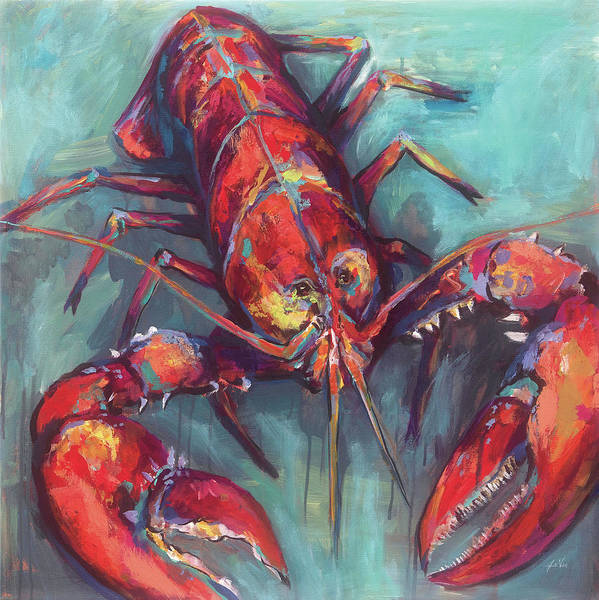 Wall Art - Painting - Lobster by Jeanette Vertentes