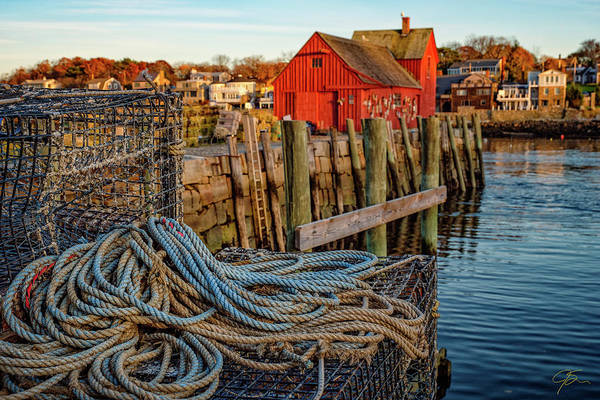 Photograph - Lobster Traps And Line At Motif #1 by Jeff Sinon