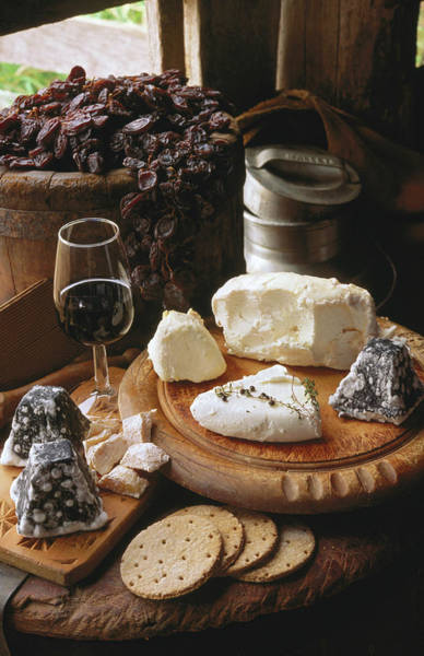Cracker Photograph - Local Cheeses And Wine by John Hay
