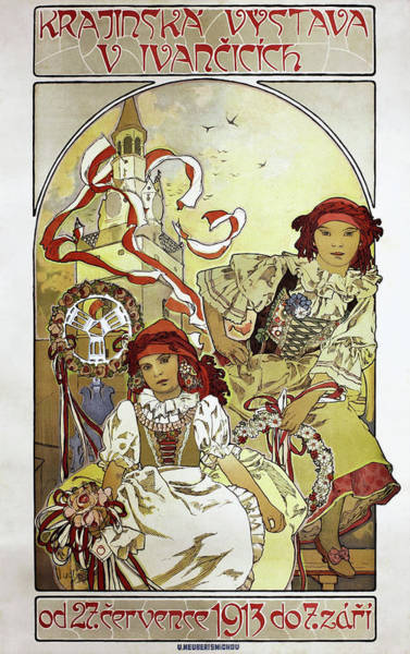 Wall Art - Painting - Local Exhibition In Ivancicich - Digital Remastered Edition by Alfons Maria Mucha