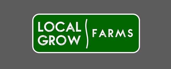 Drawing - Local Grow Farms Logo On Dark Backgrounds by Charlie Szoradi