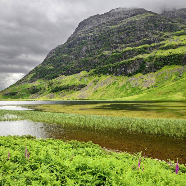 Bidean Nam Bian Photograph - Loch Achtriochtan On The River Coe In Green Glen Coe Valley With by Reimar Gaertner