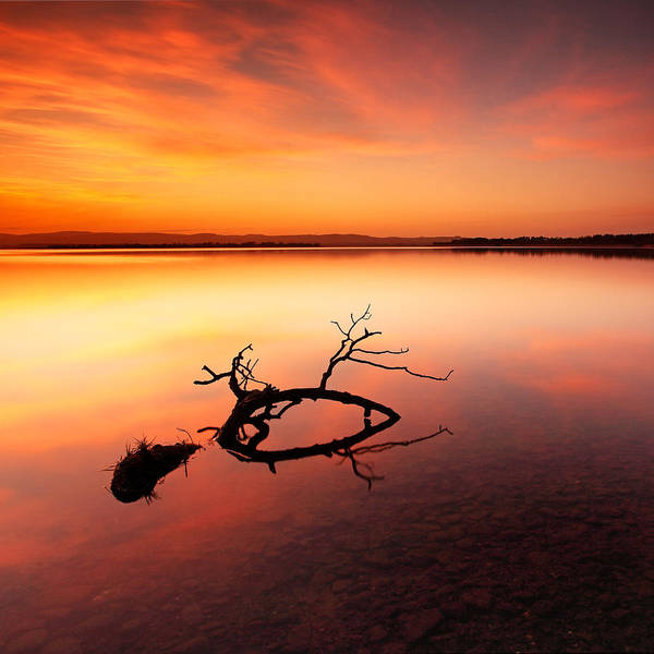 Wall Art - Photograph - Loch Leven Sunset - Perthshire by Grant Glendinning
