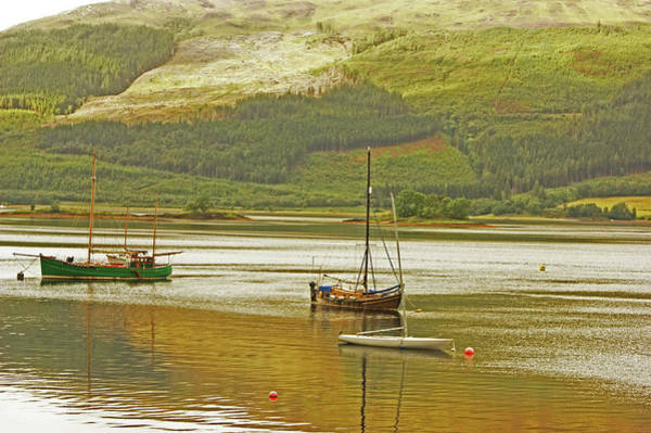 Photograph - Loch Leven. The Boats At Ballachulish by Lachlan Main