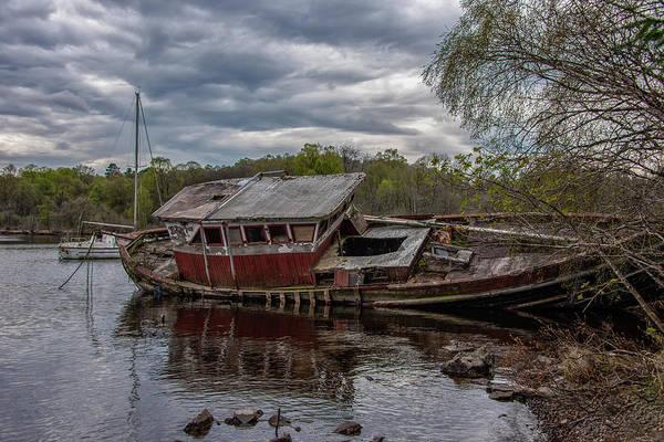 Wall Art - Photograph - Loch Ness Shipwreck - Scotland by Bill Cannon