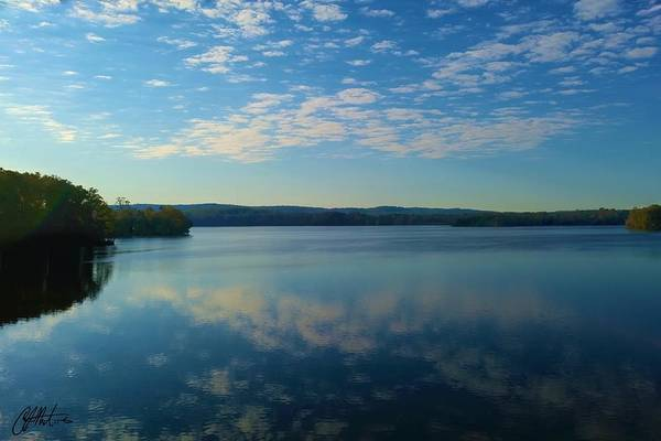 Photograph - Loch Raven Reservoir Bridge by Chris Montcalmo