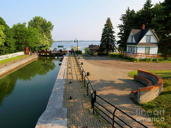 Wall Art - Photograph - Lock 3 On The Chambly Canal In Chambly Quebec by Louise Heusinkveld