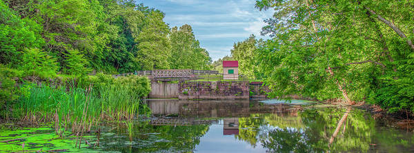 Photograph - Lock 60 Schuylkill Canal - Mont Clare Panorama by Bill Cannon