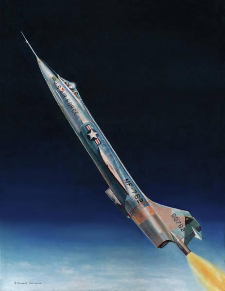 Painting - Lockheed Nf-104 by Douglas Castleman