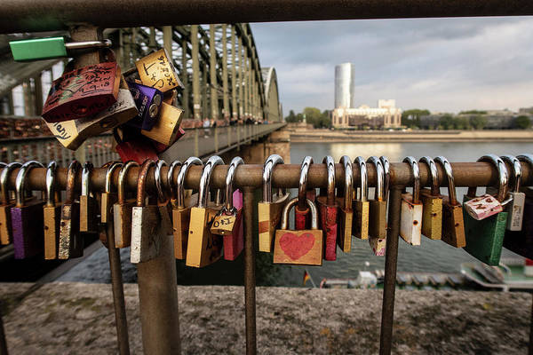 Photograph - Locks Of Love In Cologne Germany by Mary Lee Dereske