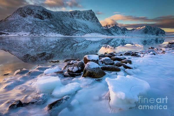 Wall Art - Photograph - Lofoten Ice Beach by Inge Johnsson