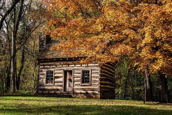 Photograph - Log Cabin--fall by Don Johnson
