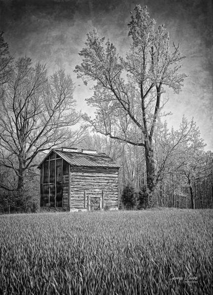 Wall Art - Photograph - Log Tobacco Barn by George Moore