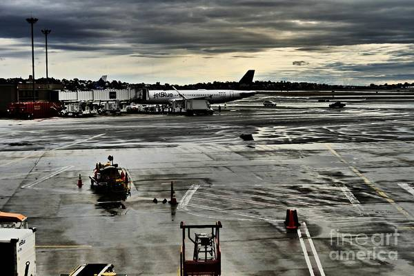 Wall Art - Photograph - Logan Airport Overcast Day by Sarah Loft