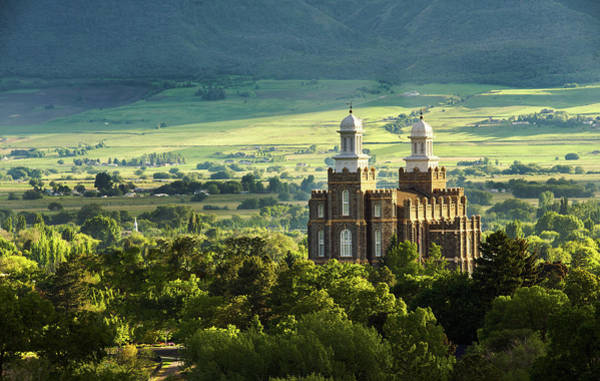 Photograph - Logan Lds Temple, Logan Utah by TL Mair